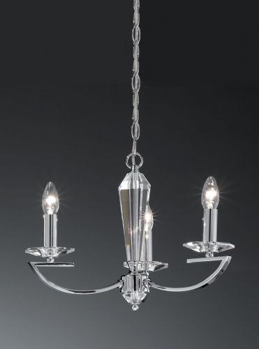 Franklite FL2241/3 Chrome Pendant Light